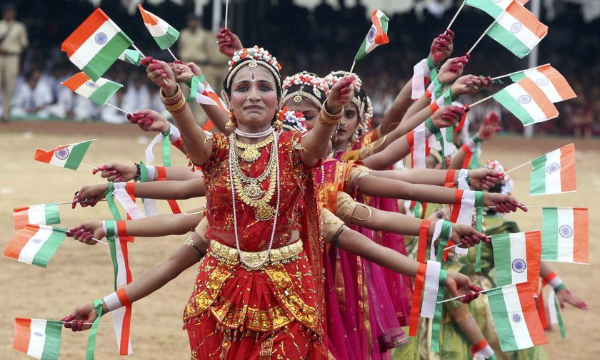 Dance ceremony on India's Independence Day