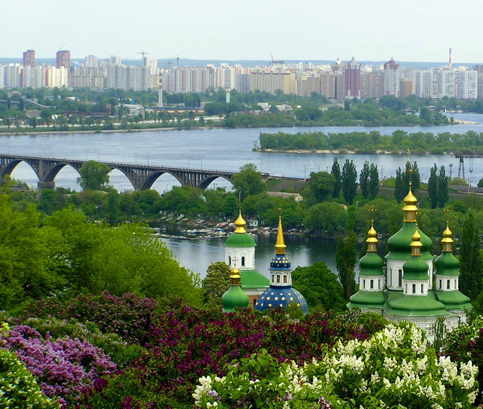Golden domes in Kiev, Ukraine