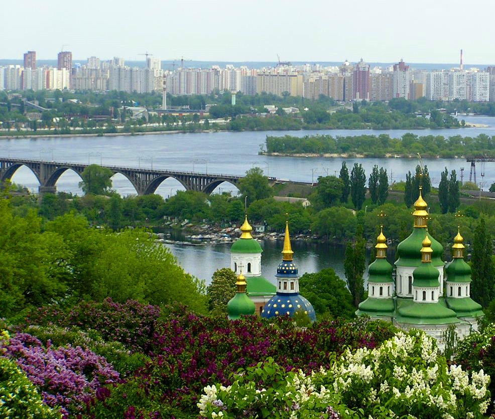 Golden domes in Kiev, Ukraine