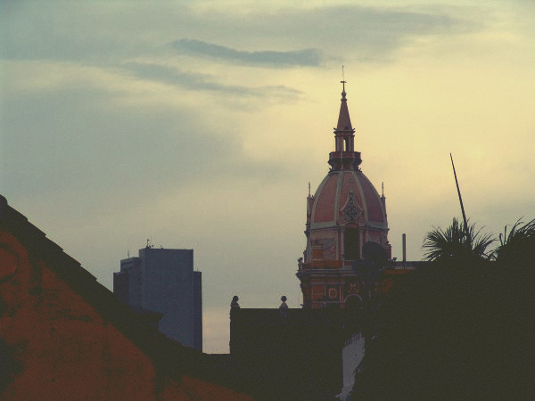 Cartagena Cathedral and sky