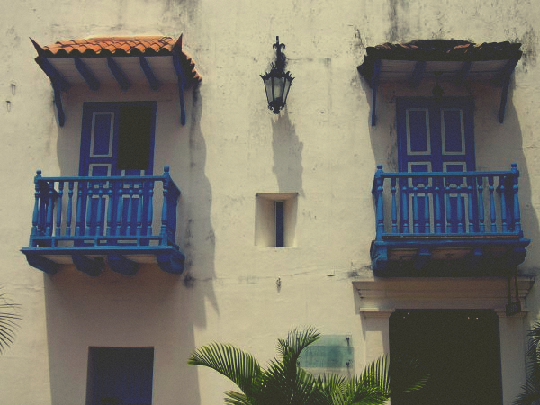 Building in Cartagena's Colonial Walled City