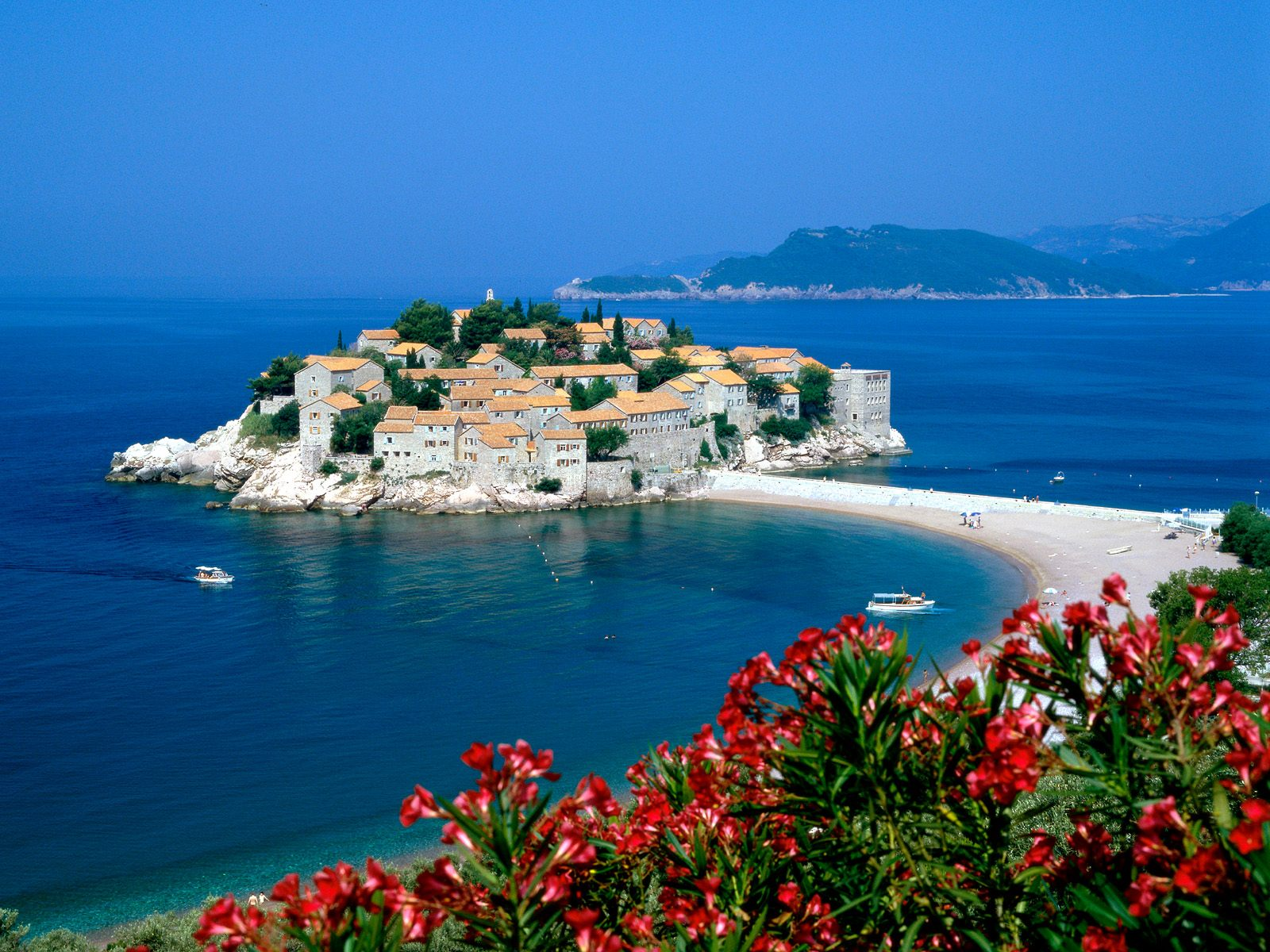 View over Sveti Stefan