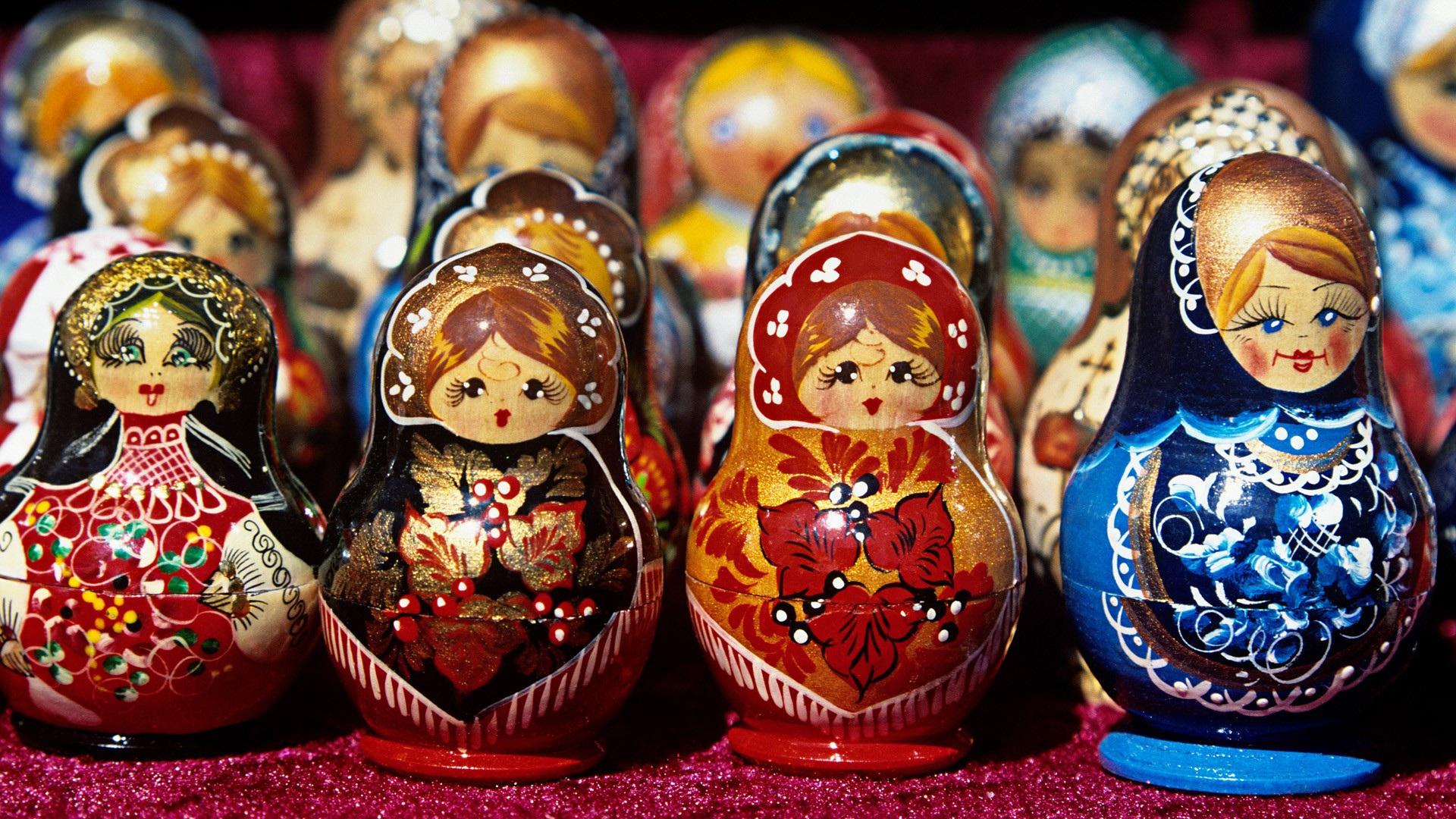 A series of matryoshka dolls