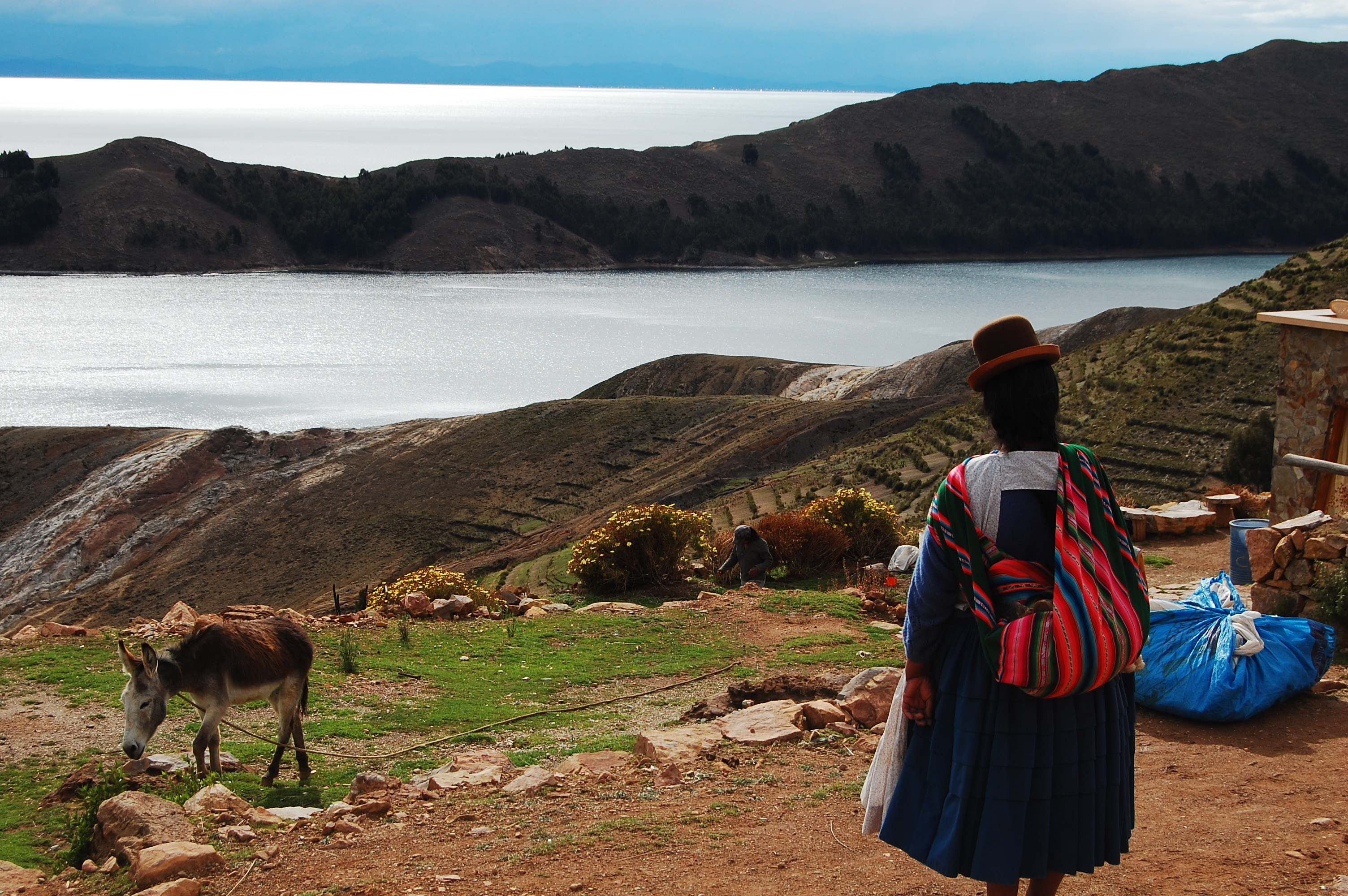 Woman in typical Andean outfit