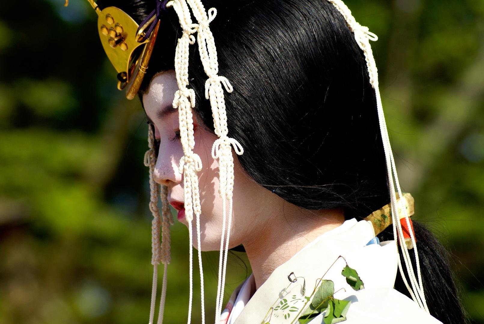 Saio at the Aoi Matsuri Festival
