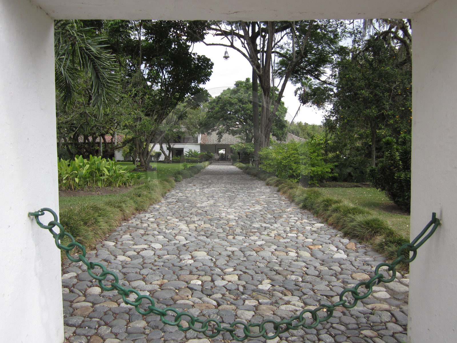 Entrance to Hacienda Piedechinche's Colonial House