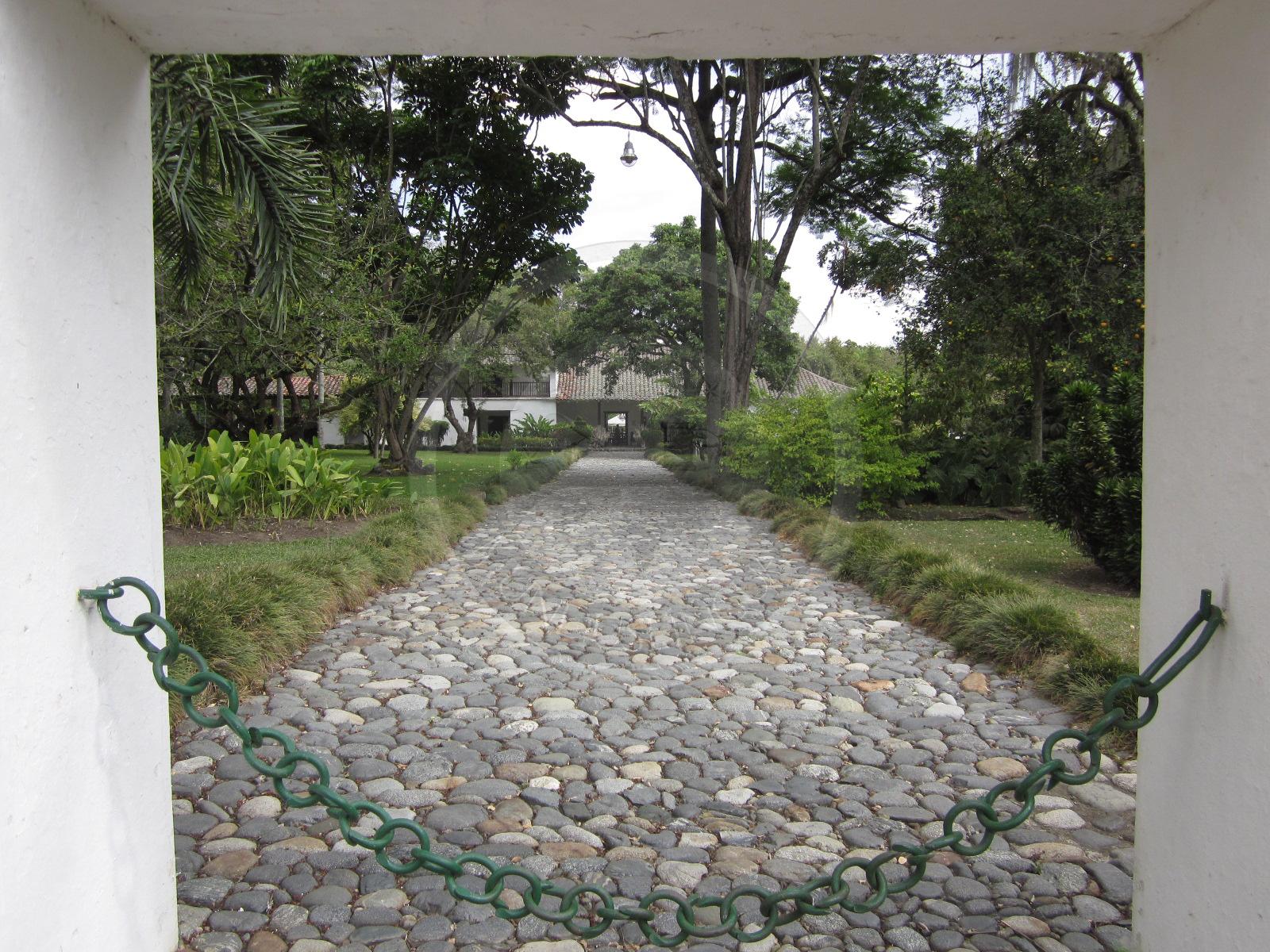 Entrance to Hacienda Piedechinche's Colonial House