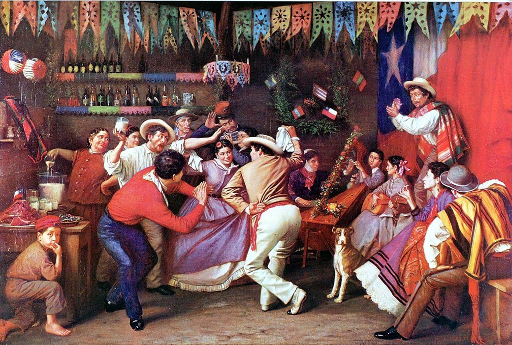 People dancing Zamacueca