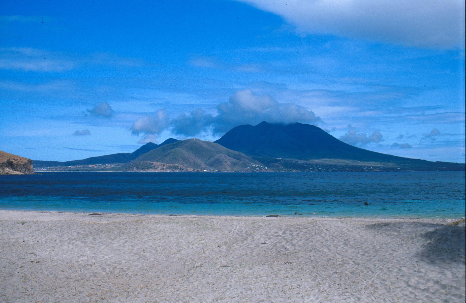 Beach landscape Saint Kitts and Nevis