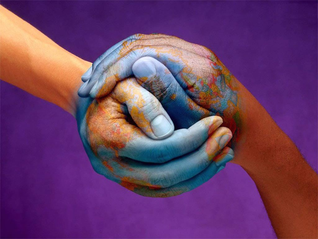 Cooperation Between People in the World