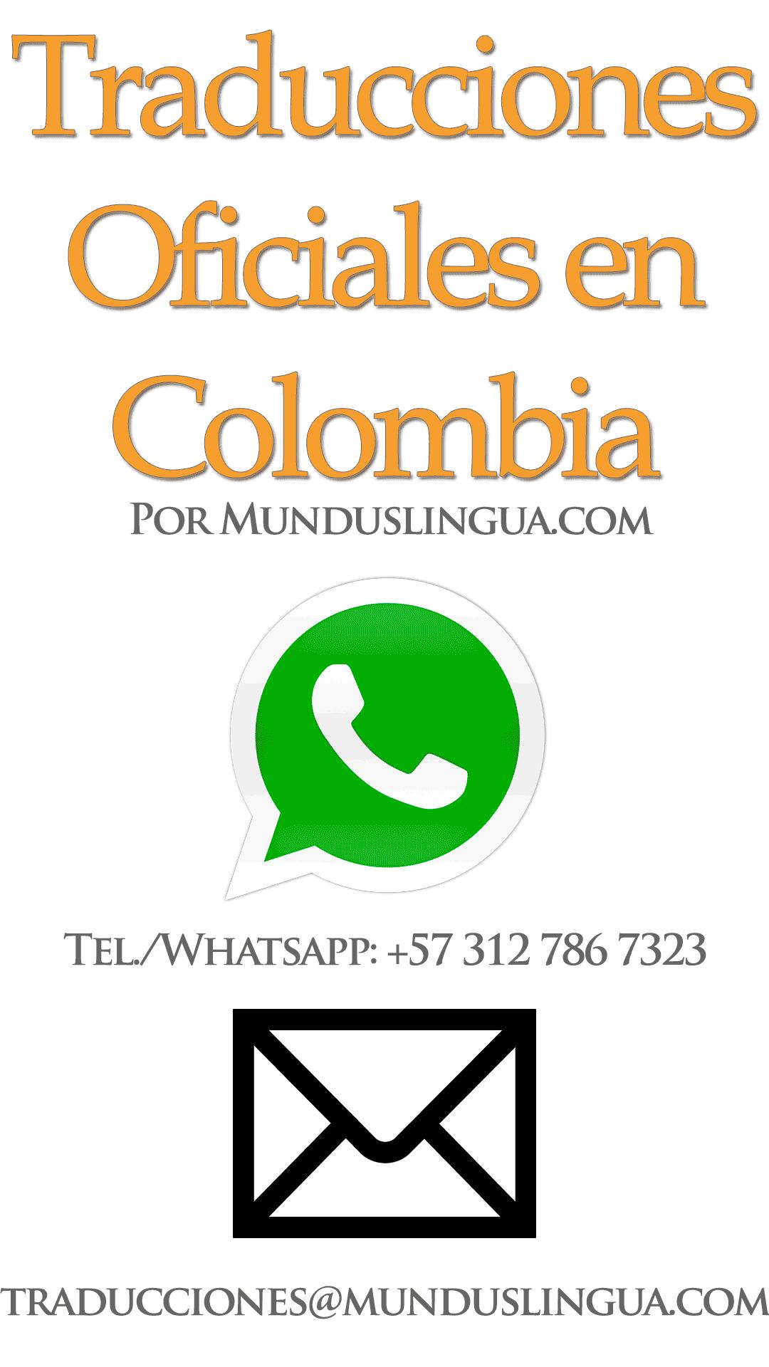 Información de Contacto de Traductores Oficiales en Colombia